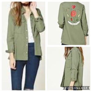 Forever 21 Love Story Lightweight Utility Jacket S